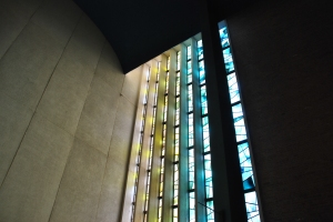 Beautiful light onto the altar.  Jehovah Lutheran Church, photograph by author.