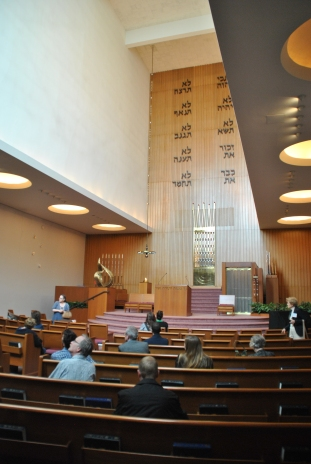 Main worship space. Mt. Zion Temple, photograph by author.