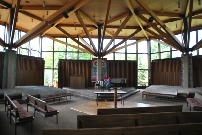Sanctuary.  Weyerhauser Chapel, photograph by author.