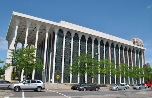 The transcendent Northwestern National Life Building by Minoru Yamasaki.