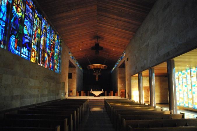 Sanctuary, Blue Cloud  Abbey, Marvin SD, July 2015, photograph by author.
