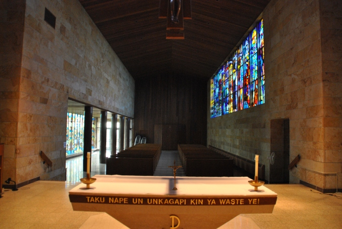 View from altar, Blue Cloud  Abbey, Marvin SD, July 2015, photograph by author.