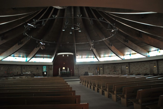 Sanctuary, Christ the King Catholic Church, July 26, 2015, photograph by author.
