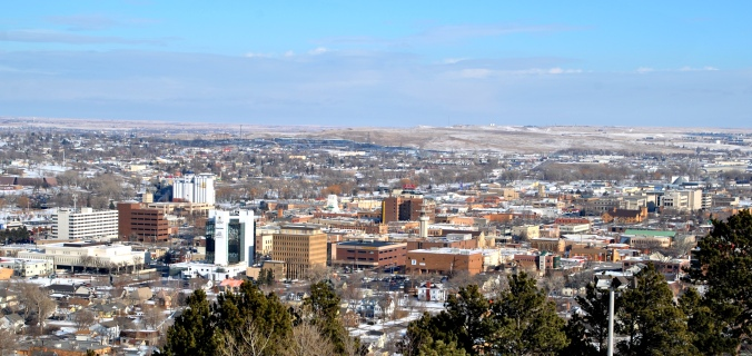 The view over downtown Rapid City.